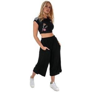 Adidas Sz S Black culotte wide leg crop pants